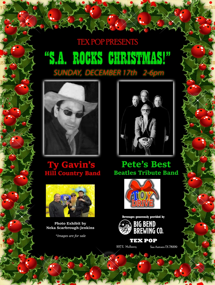 TEX POP UPDATED CHRISTMAS PARTY 2017 POSTER